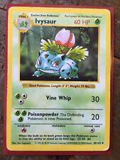 Pokemon 30/102 Ivysaur Shadowless Base Set Uncommon - HP