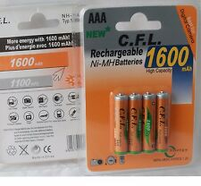 8x AAA 1600 mah ni-mh Bateria Recargable Batería Acu. rechargeable micro