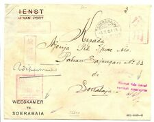 JAPAN OCCUP. DUTCH INDIES 4-7-04   POSTAGE FREE = ORPHAN CHAMBER= CENSOR FINE