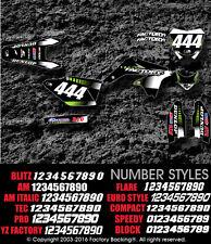 Kawasaki KX65 00-15 KLX110 00-09 Sunset Graphics kit with your number