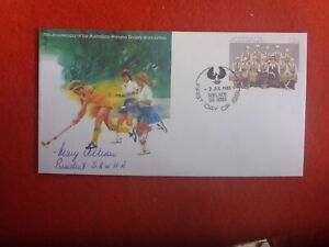 AUST WOMENS HOCKEY 75TH ANNIV PSE SIGNED BY MARY ALLISON PRESIDENT SAWHA