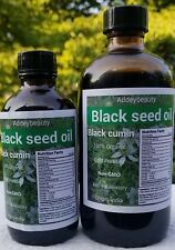 100% Pure Black Seed Oil Edible Cold Pressed Cumin Nigella Sativa Non GMO  4oz