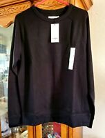 Goodfellow And Co. Mens Cotton Blend Thermal Long Sleeve Shirt Med. Ebony Black