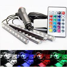 4x LED Atmosphäre Lichtleiste Lampe Innenbeleuchtung Fußraumbeleuchtung Auto RGB