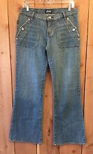 "Womens Rock & Republic Siouxsie Siosm Flare Jeans Size 29 (32"" Inseam)"