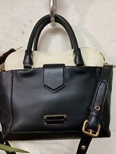 Marc by Marc Jacobs Leather Black Beige Shoulder Handbag
