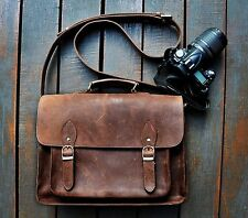 FeatherTouch Genuine Leather Camera Bag Messenger Bag Camera Case Leather Bag...