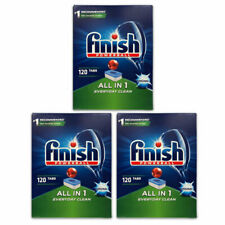 3 x FINISH PK120 POWERBALL DISHWASHING TABLETS ALL IN 1 DEEP CLEAN
