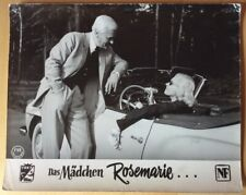 MÄDCHEN ROSEMARIE Nadja Tiller im Mercedes SL190 Car Peter van Eyck Aushangfoto