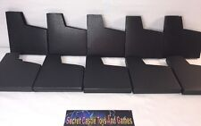 Lot Of 10 Solid Black NES Nintendo Game Sleeves Dust Covers Plain