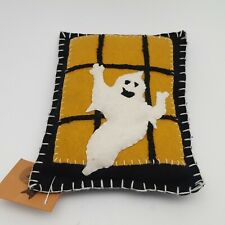 Bethany Lowe Halloween Ghost Small Pillow Wall Hanging