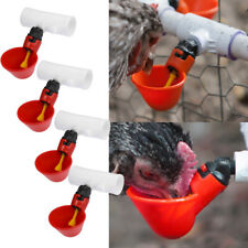 4 Pcs Poultry Water Drinking Cups Automatic Chicken Hen Drinker Pvc Fittings Us