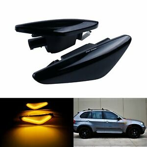 2x For BMW X3 F25 X5 E70 X6 E71 LED Side Indicator Repeater Light Canbus Amber