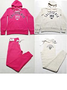 Women's Sports Hoodie Tops Pants Tracksuit Sweatshirt Fitted Suit Jogging Set
