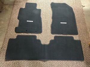 01-05 OEM Honda Civic SEDAN floor mat set logo carpet GRAY front and rear 4DR
