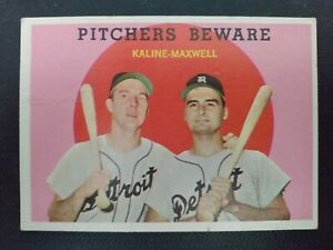 1959 Topps #34 Pitchers Beware- Kaline/Maxwell- VG