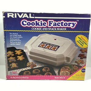 Rival Cookie Factory Cookie And Snack Maker Model 9952 W - New Open Box