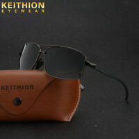 New Polarized Sunglasses Men's Retro Square Metal Outdoor Drving Eyewear Glasses