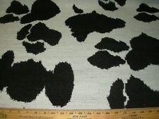8 2/8 Yds Regal Chenille Animal Cow Spots Design Upholstery Fabric For Less