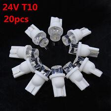 20X T10 24V White W5W Side Wedge Light Indicator License Plate Lamp Bulb 194 168