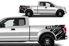 "Vinyl Graphics Decal Wrap for 2015-17 Ford F-150 ""XLT"" Rear Quarter MATTE BLACK"