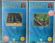 Cousteau Odyssey  : IL NILO (1979)   2 VHS Warner  Parte 1 + 2   NEWS