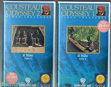 Cousteau Odyssey  : IL NILO (1979)   2 VHS Warner  Parte 1 + 2   NEWS