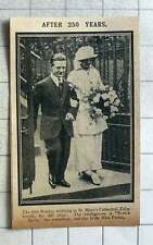 1915 Scotch Kelly The Comedian With Bride Miss Porter St Mary's Cathedral Edinbu