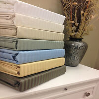 1500 Thread Count 100% Egyptian Cotton Stripe Bed Sheet Set 15 COLORS / 6 SIZES