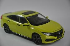 Honda Civic 2019 car model in scale 1:18 Yellow