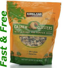 Kirkland Signature Cashew Clusters with Almonds and Pumpkin Seeds 2 lb expedited