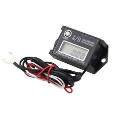 Waterproof Tiny Tach Digital Hour Meter Tachometer Resettable Job Timer Gauge