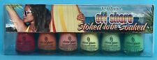 CHINA GLAZE Off Shore STOKED TO BE SOAKED Nail Polish Set~ Seas Surf Sun Pacific