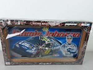 Racing Reflections #48 Jimmy Johnson Metal Plate Battery Operated Clock - NIP
