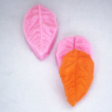 NEW 2Pc Leaf Silicone Mold Press for Fondant, Gum Paste, Chocolate, Cake Topper