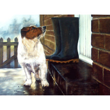 """Sally Mitchell Card - """"Hurry Up!"""" Jack Russell Terrier Print Debbie Gillingham"""