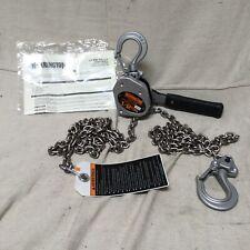 Harrington Lx005 10 Lever Chain Hoist 1000 Lb Load 10 Ft Lift 2932 Hook Open