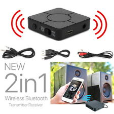 New 2in1 Bluetooth 5.0 Wireless Audio Transmitter Receiver Adapter Handsfree UK