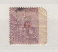 Griqualand West QV 1877 6d Lilac SG8c Fine Used  J1559