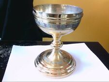Vtg Gold Plated/Sterling/Silver Soldered Chalice- Communion.  BUY NOW!!