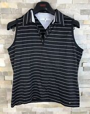 Tommy Hilfiger Ladies Size L Golf Sleeveless Striped Top T Shirt