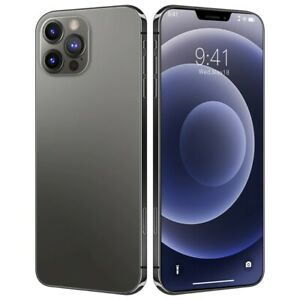 Global Version 100% Original i12 Pro Max Smartphone 6.7inch 8GB +128GB Black