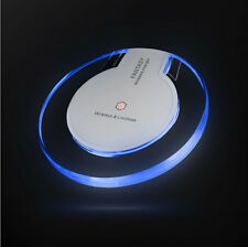 AU iPhone 8 8 Plus X Qi Wireless Fast Charger Charging Pad Mat Receiver FR Apple for Samsung Galaxy S6 Clear White