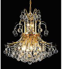 Palace Contour 9 Light Crystal Chandelier Ceiling Light- Gold