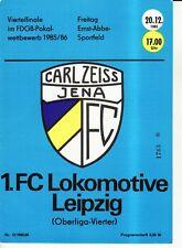 FDGB-Pokal 85/86 FC Carl Zeiss Jena - 1. FC Lok Leipzig