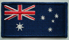 100% EMBROIDERED IRON ON AUSSIE FLAG & AUSTRALIA COAT OF ARMS BADGE PATCH PACK !