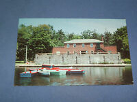 VINTAGE CASINO ON IROQUOIS LAKE in CENTRAL PARK   NEW YORK   POSTCARD