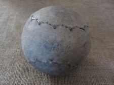 HUGE Vintage Leather Softball > Baseball Antique Sports Ball Unusual Stitch 6821