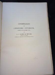 CONSIDÉRATIONS SUR L'HISTOIRE OTTOMANE . 1886.