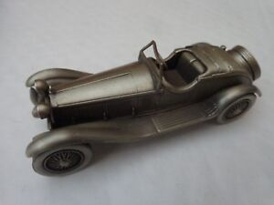 DANBURY MINT 1/43 CLASSIC 1931 ALFA ROMEO 6C1750 ZAGATO SPIDER PEWTER MODEL CAR